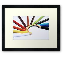 Colorful Pencils - Canon EOS 550D 55 - 300 mm Framed Print
