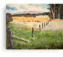 fence and fields Canvas Print
