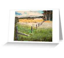 fence and fields Greeting Card