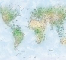 World City Map by Michael Tompsett
