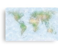 World City Map Canvas Print