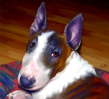 Bull Terrier Art Prints from Painting by Iain McDonald