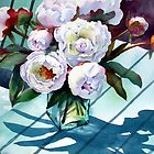 Sunlit Peonies by Ann Mortimer
