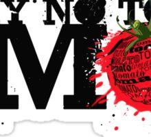 NO GMO graffiti art print / sticker Sticker