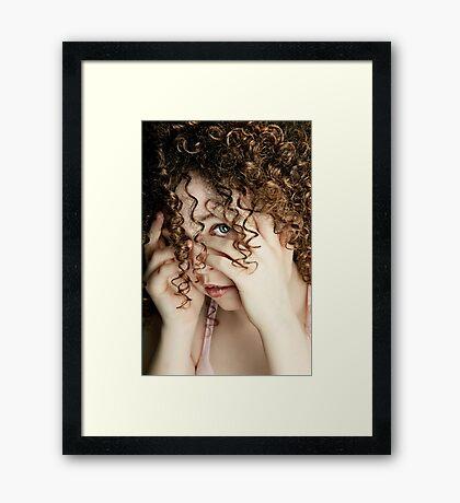 No Peeking!!!! Framed Print