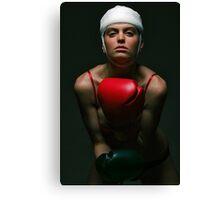 boxing Girl 2 Canvas Print
