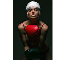 boxing Girl 2 Photographic Print