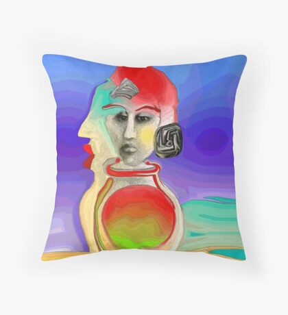 The Genie is Out of Her Bottle Throw Pillow