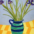 Irises in a Jug by Jude Allman