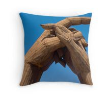 Lovers clasp Throw Pillow