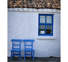 blue window Photographic Print