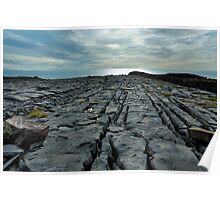 limestone pavement.. inishmore Poster