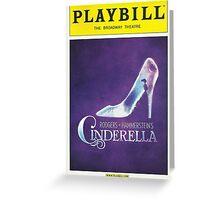 Cinderella Playbill Greeting Card