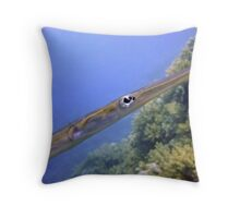 The Eye of a Trumpetfish - Aulostomus Maculatus Throw Pillow