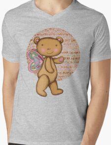 Love Bear Mens V-Neck T-Shirt