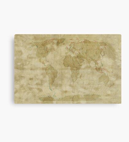 World Map Antique Style Canvas Print