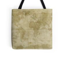 World Map Antique Style Tote Bag