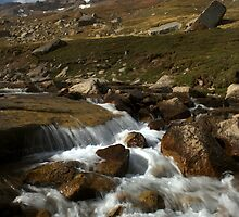 Torrent in Cherkanak valley, Talas Range, Tien-Shan, Kyrgyzstan by Michal Cerny