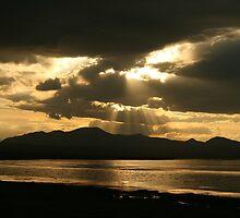Sunset at Son-kul (Son-Kol Song-Kol) lake, Kyrgyzstan by Michal Cerny