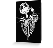 Sugar Skull Jack Skellington Greeting Card