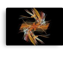 Orange Dash Canvas Print