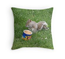 Now, this is eating! Throw Pillow