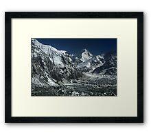 Inylchek glacier, central Tien-Shan, Kyrgyzstan Framed Print