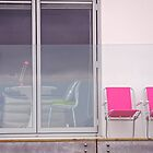 pink chairs  by richard  webb