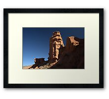 Sandstone formations in Konorchok canyon, Kyrgyz range, Kyrgyzstan Framed Print