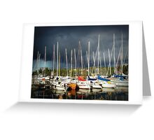 thunder at marina II Greeting Card