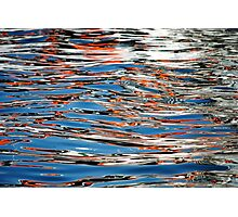 red and blue water Photographic Print