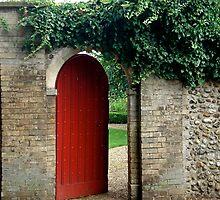Red door open  by richard  webb