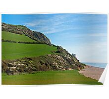 Coastal Path At Branscombe Poster