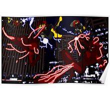 Lightning Man VS. Dark Lightning - Two Page Spread Print Poster