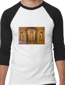 Reliefs from the Renaissance period in Milan, ITALY Men's Baseball ¾ T-Shirt
