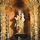 detail from altar in Cathedral at Obidos, Portugal by Stephen Frost