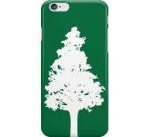 White Tree Silhouette iPhone Case/Skin