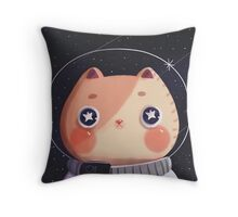 Cat Astro Throw Pillow