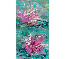 two lotus dancing in the water Photographic Print
