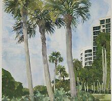 Naples Florida, Palms by Robert Bowden