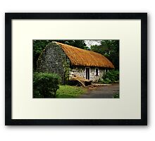 irish cottage.. Framed Print