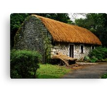 irish cottage.. Canvas Print