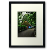 blue cottage.. Framed Print