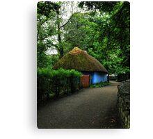 blue cottage.. Canvas Print