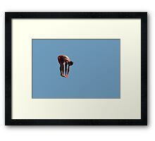 Athletic guy Framed Print
