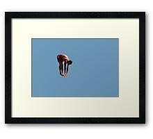 Athletic guy Framed Print