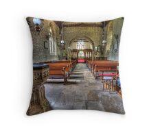 Church interior Throw Pillow