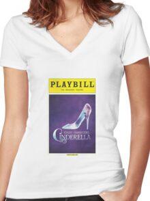 Cinderella Playbill Women's Fitted V-Neck T-Shirt