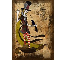 Mad Alice: Why is a Raven like a Writing Desk? Photographic Print