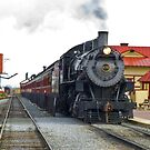 Old 475 Sitting at the Station by   Paul W. Faust